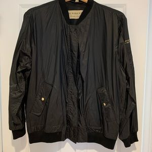 BURBERRY packable rain jacket